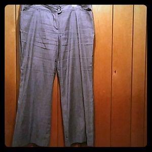 Lane Bryant Wide Leg Linen Pants